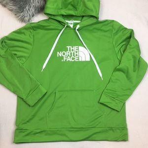 The North Face Green Pullover Hoodie Sweatshirt XL